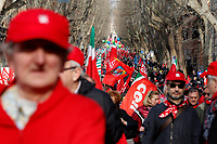 General view<br /> Rome February 9th 2019. Demonstration of the three Italian trade unions, CGIL, CISL, UIL.<br /> Foto Samantha Zucchi Insidefoto