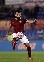 Calcio, Serie A: Roma vs Empoli. Roma, stadio Olimpico, 17 ottobre 2017.<br /> Roma&rsquo;s Mohamed Salah in action during the Italian Serie A football match between Roma and Empoli at Rome's Olympic stadium, 17 October 2015.<br /> UPDATE IMAGES PRESS/Isabella Bonotto