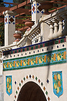 Europe/France/06/Alpes-Maritimes/Menton: Céramiques polychromes du Jardin de Fontana Rosa de l'écrivain espagnol Vicente Blasco Ibanez.<br /> Son atmosphère sont proches de ceux régnant dans les jardins arabo-persans et andalous