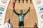 Race leader Alexey Lutsenko (KAZ) Astana Pro Team wins Stage 5 and retakes the Green Jersey of the 10th Tour of Oman 2019, running 152km from Samayil to Jabal Al Akhdhar (Green Mountain), Oman. 20th February 2019.<br /> Picture: ASO/K&aring;re Dehlie Thorstad | Cyclefile<br /> All photos usage must carry mandatory copyright credit (&copy; Cyclefile | ASO/K&aring;re Dehlie Thorstad)