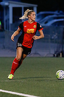 Rochester, NY - Saturday July 23, 2016: Western New York Flash defender Abigail Dahlkemper (13) during a regular season National Women's Soccer League (NWSL) match between the Western New York Flash and FC Kansas City at Rochester Rhinos Stadium.