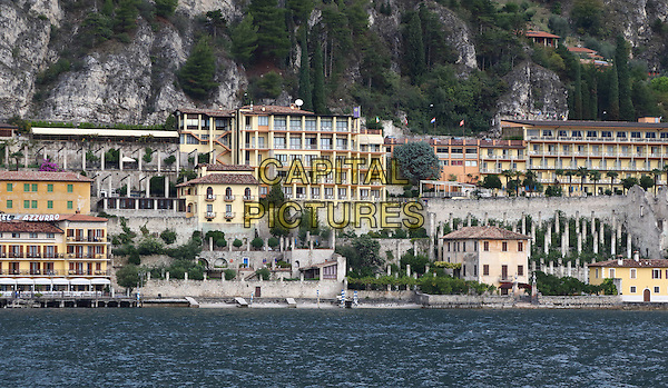 LAGO DI GARDA, ITALY - View from the lake of the town of Limone on 17 October 2015 in Lago di Garda, Italy<br /> <br /> CAP/ROS<br /> &copy;ROS/Capital Pictures