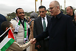 Palestinian Prime Minister, Rami Hamdallah, attends the opening ceremony of a medical centre in the village of Beit Ula, north of the West Bank city of Hebron on January 28, 2019. Photo by Prime Minister Office