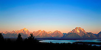 Sunrise on the Teton Range from Signal Mountain in Grand Teton National Park, Wyoming.