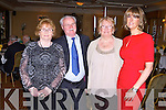KERRY SUPPORTERS: Having a wonderful time at the Kerry GAA supporters club annual dinner at the Ballygarry House hotel, Tralee on Saturday l-r: Tess Fitzgerald, Jim Fitzgerald, Eileen King, Fenit and Leanne Ryan, Tralee.
