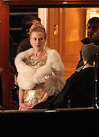 "Nicole Kidman pregnant on a scene of "" Grace Of Monaco "" - France"