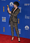 Phoebe Waller-Bridge 138 poses in the press room with awards at the 77th Annual Golden Globe Awards at The Beverly Hilton Hotel on January 05, 2020 in Beverly Hills, California.