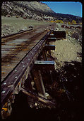 D&amp;RGW trestle after abandonment.<br /> D&amp;RGW