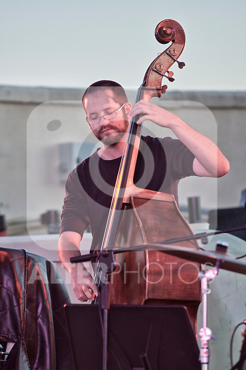 Pablo Held Trio in concert during Jazz Circulo Summer Festival 2012.In the picture Robert Landfermann contrabass..(Alterphotos/Ricky)