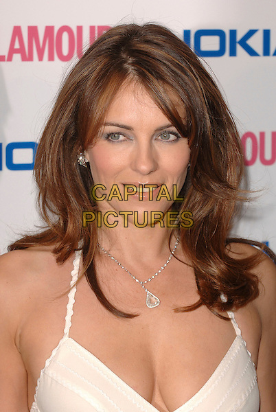 ELIZABETH HURLEY.The Glamour magazine 3rd Annual Women Of The Year Awards, Berkley Sqaure, London, England..June 6th, 2006.Ref: BEL.headshot portrait Liz cleavage necklace.www.capitalpictures.com.sales@capitalpictures.com.© Capital Pictures.