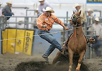 26 Aug 2010:  Mike Johnson was not able to score a time in the slack Tie Down Roping competition at the Kitsap County Stampede Wrangle Million Dollar PRCA Silver Rodeo Tour Bremerton, Washington.