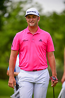 Jon Rahm (ESP) after sinking his birdie putt on 1 during round 3 of the Dean &amp; Deluca Invitational, at The Colonial, Ft. Worth, Texas, USA. 5/27/2017.<br /> Picture: Golffile | Ken Murray<br /> <br /> <br /> All photo usage must carry mandatory copyright credit (&copy; Golffile | Ken Murray)