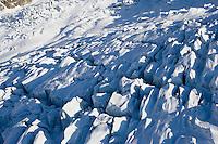 Europe/France/Rhone-Alpes/74/Haute-Savoie/ env de Chamonix et de Megève : le Glacier des Bossons massif du Mont Blanc - Vue Aérienne
