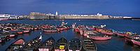 Afrique/Maghreb/Maroc/El-Jadida:la citadelle portugaise et son port de pèche