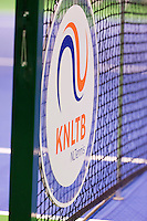 December 20, 2014, Rotterdam, Topsport Centrum, Lotto NK Tennis, Woman's KNLTB logo in net<br /> Photo: Tennisimages/Henk Koster