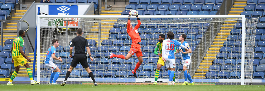 Blackburn Rovers' Christian Walton makes a save<br /> <br /> Photographer Dave Howarth/CameraSport<br /> <br /> The EFL Sky Bet Championship - Blackburn Rovers v West Bromwich Albion - Saturday 11th July 2020 - Ewood Park - Blackburn <br /> <br /> World Copyright © 2020 CameraSport. All rights reserved. 43 Linden Ave. Countesthorpe. Leicester. England. LE8 5PG - Tel: +44 (0) 116 277 4147 - admin@camerasport.com - www.camerasport.com