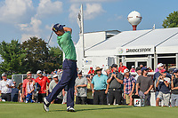 Justin Thomas (USA) watches his tee shot on 17 during 4th round of the World Golf Championships - Bridgestone Invitational, at the Firestone Country Club, Akron, Ohio. 8/5/2018.<br /> Picture: Golffile | Ken Murray<br /> <br /> <br /> All photo usage must carry mandatory copyright credit (© Golffile | Ken Murray)