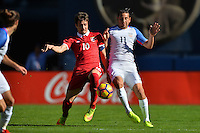San Diego, CA - Sunday January 29, 2017: Aleksandar Palocevic, Alejandro Bedoya during an international friendly between the men's national teams of the United States (USA) and Serbia (SRB) at Qualcomm Stadium.