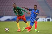 June 8th 2017, Créteil, France, U-21 International football friendly, France versus Cameroon;  Adama Diakhaby (fra)plays the ball away from Duplex Tchamba Bangou (cam)