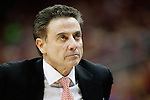 Head coach Rick Pitino of the Louisville Cardinals looks on during the game against  the Kentucky Wildcats at KFC Yum! Center on Saturday, December 27, 2014 in Louisville `, Ky. Kentucky leads Louisville 22-18 at halftime. Photo by Michael Reaves | Staff