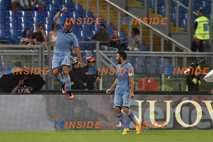 Esultanza Fabio Quagliarella Sampdoria 1-2 Celebration <br /> Roma 11-09-2016 Stadio Olimpico  <br /> Football Calcio Serie A AS Roma - Sampdoria <br /> Foto Andrea Staccioli / Insidefoto