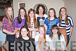 Leona O'Shea,Farmers Bridge,Tralee(seated centre)celebrated becoming a teenager last Monday evening with friends in Bella bia Tralee,also seated is Emma Sheehy(Lt)and Claire Conway(Rt).Standing L-R Eimear Brosnan,Maebh pierce,Caitlin McConnell,Marie O'Mahony,Ciara Drinan and Gerri O'Brien..