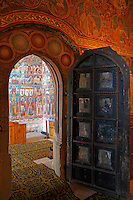 Romania,Moldavia Region,Southern Bucovina,Voronets Monastery,Church of St. George,Frescos,wall paintings,interior,biblical scenes