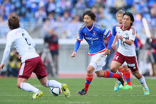 Shingo Hyodo (F Marinos), <br /> FEBRUARY 21, 2015 - Football / Soccer :<br /> 2015 J.League Pre-season match between <br /> Yokohama F Marinos 0-1 Matsumoto Yamaga FC <br /> at Nissan Stadium in Kanagawa, Japan. <br /> (Photo by Yohei Osada/AFLO SPORT) [1156]