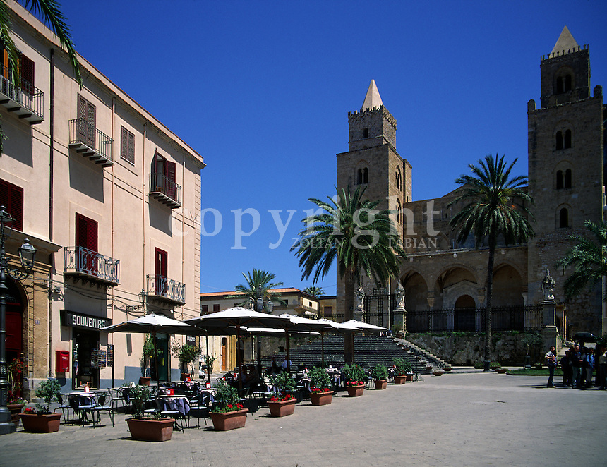 The Cathedral of Cefalù is a straightforward Romanesque basilica with a transept, partly vaulted and partly covered with an open woodwork roof. It was started to build in 1131 and completed only in the 15th century. Location: Piazza del Duomo, 90015 Cefalù, PA, Sicily, Italy, Europe