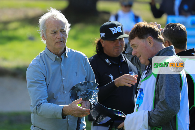 Actor Bill Murray during the first round of the AT&T Pro-Am, Pebble Beach Golf Links, Monterey, California, USA. 07/02/2019<br /> Picture: Golffile | Phil Inglis<br /> <br /> <br /> All photo usage must carry mandatory copyright credit (© Golffile | Phil Inglis)§