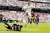 9th September 2017, Santiago Bernabeu, Madrid, Spain; La Liga football, Real Madrid versus Levante; Gareth Bale Real Madrid sees his shot saved by Raul Fernandez of Levante