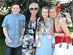 Kathlyn O'Connor who was confirmed in Holy Family church Ballsgrove pictured with her sister Lauren Hill, brother Aaron O'Connor and grandmother Josephine Lynch. Photo:Colin Bell/pressphotos.ie