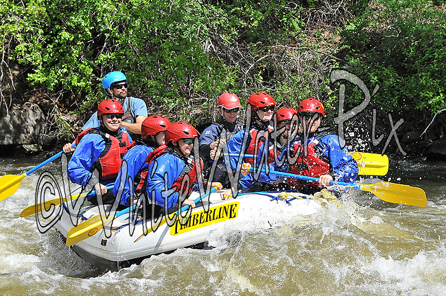 Timberline Tours crashing Interstate, Dead Cow and Rodeo Rapids while running the Lower Eagle River, June 4, 2013, PM, Eagle, Colorado - WhiteWater-Pix | River Adventure Photography - by MADOGRAPHER Doug Mayhew