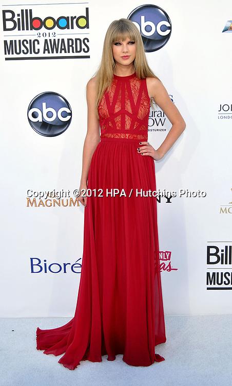 LAS VEGAS - MAY 20:  Taylor Swift at the 2012 Billboard Music Awards at the MGM Grand Garden Arena on May 20, 2012 in Las Vegas, NV