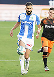 CD Leganes' Dimitrios Siovas (l) and Valencia CF's Kevin Gameiro during La Liga match. July 12,2020. (ALTERPHOTOS/Acero)