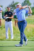 Jordan Spieth (USA) watches his tee shot on 12 during Thursday's round 1 of the 117th U.S. Open, at Erin Hills, Erin, Wisconsin. 6/15/2017.<br /> Picture: Golffile | Ken Murray<br /> <br /> <br /> All photo usage must carry mandatory copyright credit (&copy; Golffile | Ken Murray)