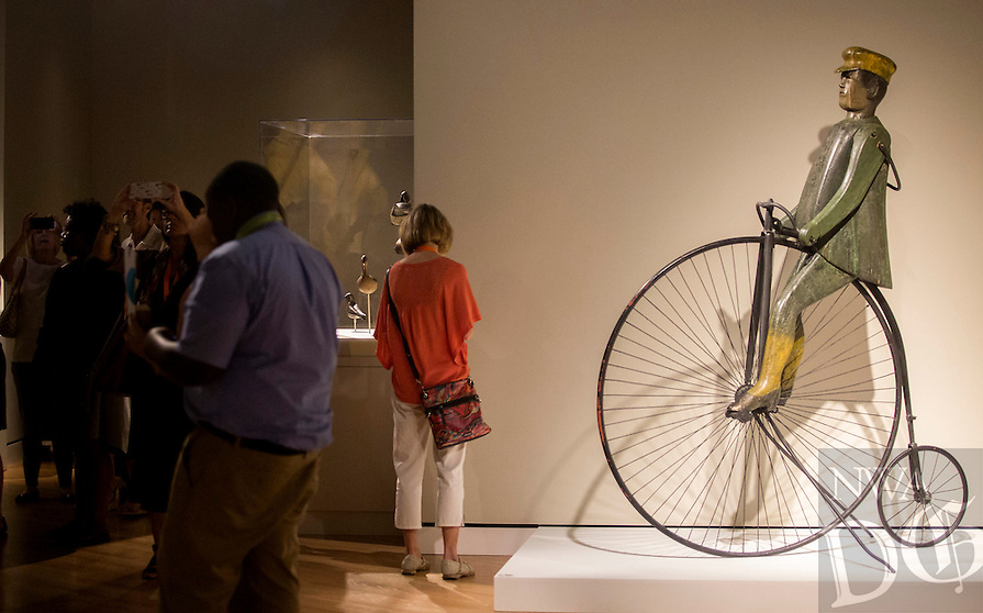 NWA Democrat-Gazette/JASON IVESTER<br /> media preview for American Made exhibit on Thursday, June 30, 2016, at Crystal Bridges Museum of American Art in Bentonville; exhibit opens to the public on Saturday, July 2