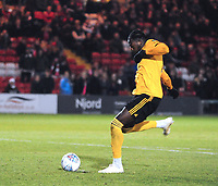 Wolverhampton Wanderers U21's Dominic Iorfa scores the winning penalty<br /> <br /> Photographer Andrew Vaughan/CameraSport<br /> <br /> The EFL Checkatrade Trophy Northern Group H - Lincoln City v Wolverhampton Wanderers U21 - Tuesday 6th November 2018 - Sincil Bank - Lincoln<br />  <br /> World Copyright © 2018 CameraSport. All rights reserved. 43 Linden Ave. Countesthorpe. Leicester. England. LE8 5PG - Tel: +44 (0) 116 277 4147 - admin@camerasport.com - www.camerasport.com