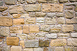 Grooves cut in sandstone blocks by wind erosion at Tynemouth priory, Northumberland, England