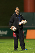 Steelers Coach Darryl Suasua. Mitre 10 Cup rugby game between Counties Manukau Steelers and Auckland played at ECOLight Stadium, Pukekohe on Saturday August 19th 2017. Counties Manukau Stelers won the game 16 - 14 and retain the Dan Bryant Memorial trophy.<br /> Photo by Richard Spranger.