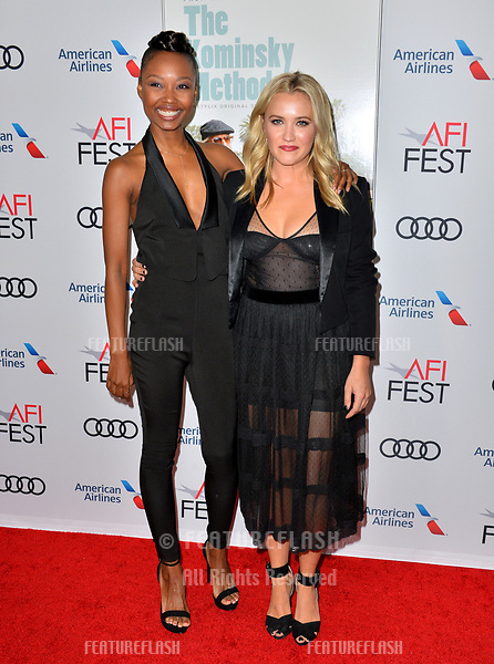 "LOS ANGELES, CA. November 10, 2018: Ashleigh LaThrop & Emily Osment at the AFI Fest 2018 world premiere of ""The Kominsky Method"" at the TCL Chinese Theatre.<br /> Picture: Paul Smith/Featureflash"