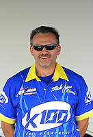 Sept. 30, 2012; Madison, IL, USA: NHRA crew member for pro mod driver Mike Janis during the Midwest Nationals at Gateway Motorsports Park. Mandatory Credit: Mark J. Rebilas-