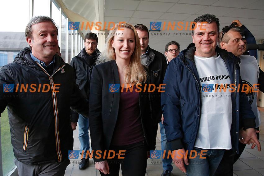Marion Mar&egrave;chal-Le Pen arriva scortata<br /> Roma 15-03-2016 Convegno 'L'Europa delle Mille Patrie'.<br /> Convention 'Europe of the thousand Homelands'<br /> Photo Samantha Zucchi Insidefoto