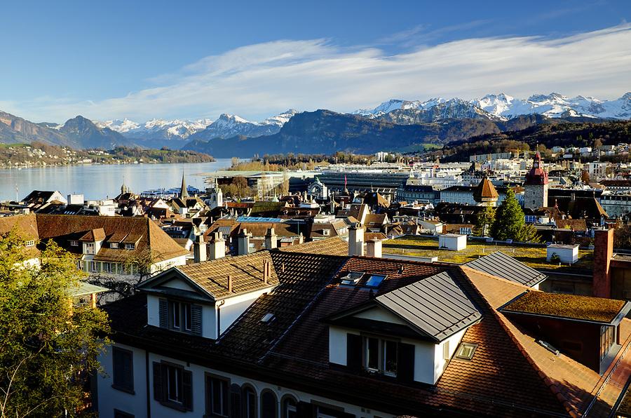 Lucerne city skyline, Lucerne, Switzerland, Europe