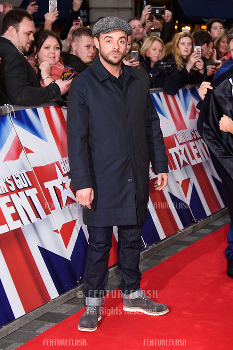Anthony McPartlin at the London auditions for Britain's Got Talent 2018 at the London Palladium, London, UK. <br /> 28 January  2018<br /> Picture: Steve Vas/Featureflash/SilverHub 0208 004 5359 sales@silverhubmedia.com