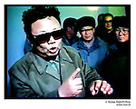 NR01145 / Kim Jong Il president de la Coree du Nord. La CorÈe du Nord a dÈclarÈ, jeudi 10 fÈvrier, s'etre dotee de la bombe atomique pour se proteger des Etats-Unis...Coree du Nord, 2005...© Nicolas Righetti/Rezo.. ..Kim Jong Il the president of North Korea...The North Korea declared, Thursday February 10, to have obtained the atomic bomb to protect itself from the United States..North Korea, 2005...© Nicolas Righetti/Rezo..