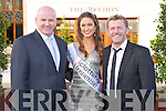 "PIctured with Pat O'Neill at the ""A Night at the Opera' in the Brehon Hotel, Killarney on Wednesday with proceeds going to Cystic Fibrosis Build 4 Life were Sean Gallagher and Aoife Hannon, Miss Universe Ireland.."