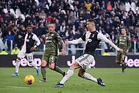 Cristiano Ronaldo of Juventus scores a goal <br /> Torino 6-1-2020 Juventus Stadium <br /> Football Serie A 2019/2020 <br /> Juventus FC - Cagliari Calcio <br /> Photo Federico Tardito / Insidefoto