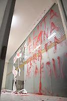 SAO PAULO, SP, 17.07.2013 - PROTESTO ALUNOS / DESOCUPAÇÃO SEDE UNESP - Sede da Universidade Estadual Paulista (UNESP), na Rua Quirino de Andrade em São Paulo (SP), tem rastro de vandalismo e destruição deixado pelos alunos que fizeram a ocupação que durou toda a madrugada. (Foto: Marcelo Brammer / Brazil Photo Press).