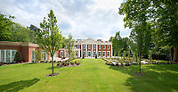 BNPS.co.uk (01202 558833)<br /> Pic: Savills/BNPS<br /> <br /> Landscaped grounds.<br /> <br /> Fairway to Heaven - Hills End has been described as 'a fabulous new masterpiece'. <br /> <br /> This breathtaking brand new mansion only a pitching wedge from one the most exclusive golf clubs in the country has emerged for sale for a whopping £22m.<br /> <br /> Hills End nestles within the prestigious Sunningdale estate in Surrey, home of the £4,000 a year Sunningdale Golf Club which dates back to 1900 and has hosted the Women's British Open and the Senior Open Championship.<br /> <br /> The newly-built property sits on a 1.75 acre plot  boasting six bedrooms, eight reception areas, a swimming pool complex with spa, sauna and yoga rooms along with a large cinema. and walk in wardrobes.<br /> <br /> The incredible Palladian style home is on the market with estate agents Savills who describe it as 'a fabulous new masterpiece'...that comes with a whopping £22 million price tag.